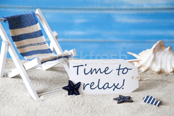 Summer Label With Deck Chair And Text Time To Relax Stock photo © Nelosa