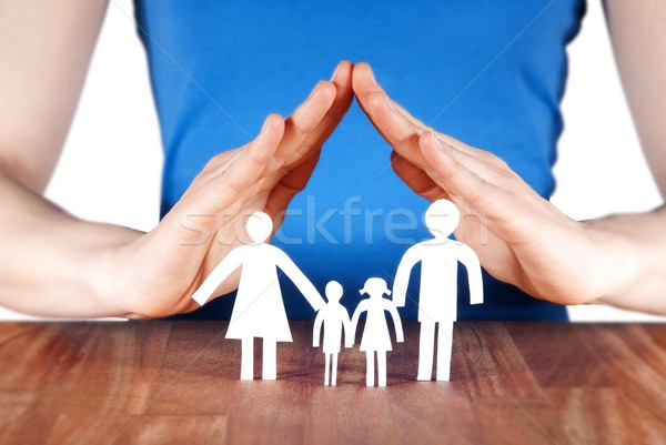 family with house of hands Stock photo © Nelosa