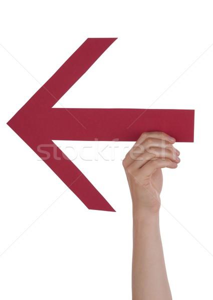Person Holding an Arrow Stock photo © Nelosa