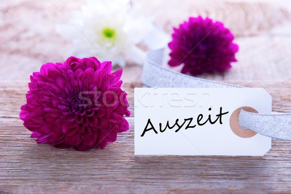 Etichetta parola fiori legno lavoro spa Foto d'archivio © Nelosa