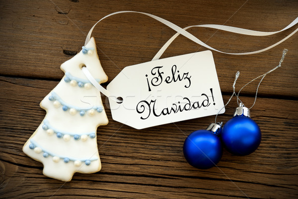 Christmas Background with Spanish Christmas Greetings Stock photo © Nelosa