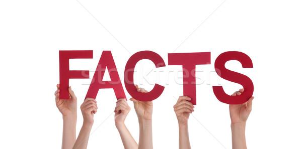 Pessoas fatos muitos vermelho palavra Foto stock © Nelosa
