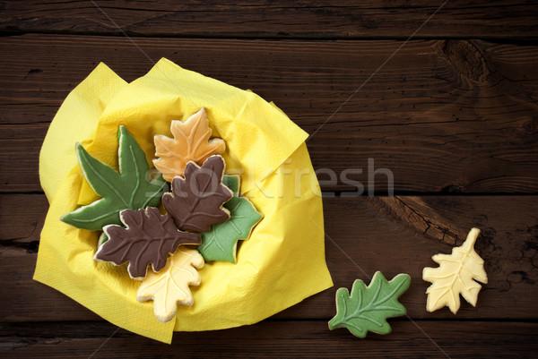 Autumn Cookies in a Yellow Bowl Stock photo © Nelosa