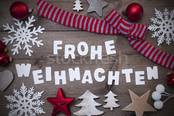 Frohe Weihnachten Mean Merry Christmas,Red Loop Decoration Stock photo © Nelosa