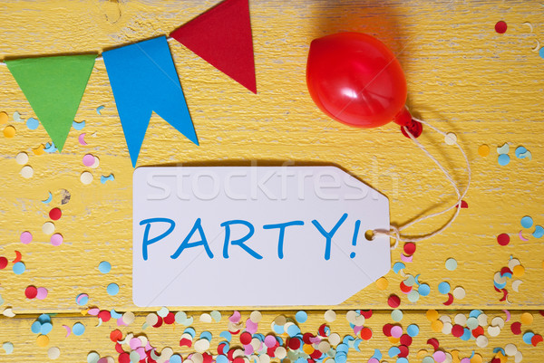 Label With Balloon, Text Party Stock photo © Nelosa