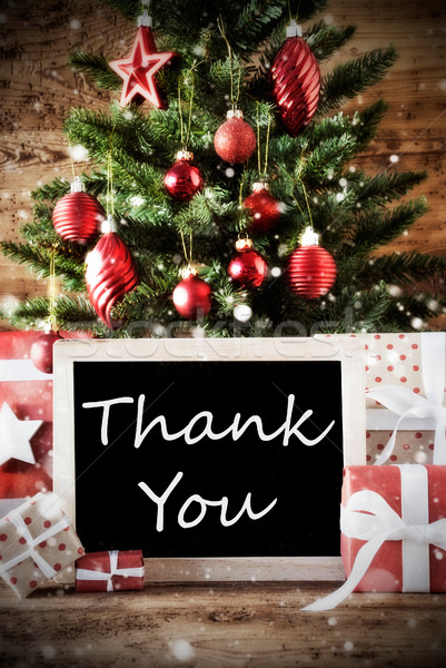 Stock photo: Christmas Tree With Thank You