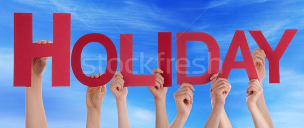 Wiele ludzi ręce czerwony prosto Zdjęcia stock © Nelosa