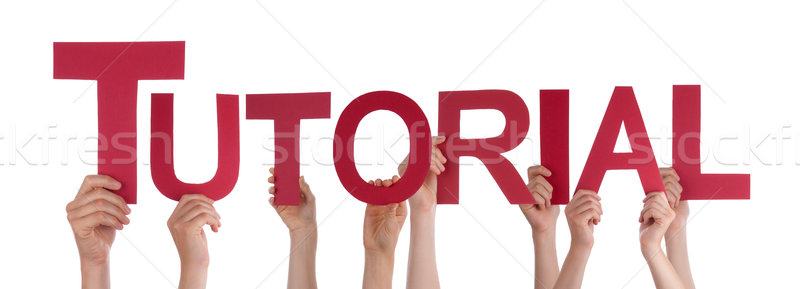Beaucoup personnes mains rouge droite Photo stock © Nelosa