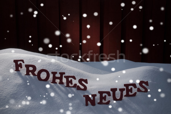 Frohes Neues Means Happy New Year With Snowflakes Stock photo © Nelosa