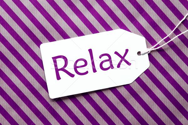 ラベル 紫色 包装紙 文字 リラックス 1 ストックフォト © Nelosa