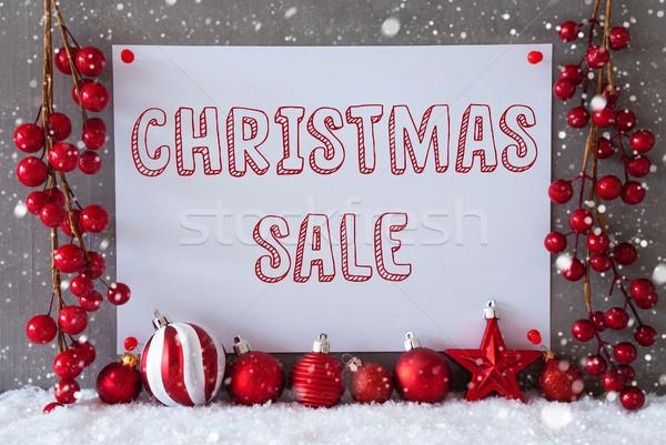 Etiket kar taneleri metin Noel satış Stok fotoğraf © Nelosa