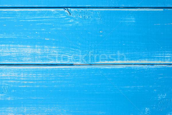 Light Blue Wooden Slats Background With Copy Space Stock photo © Nelosa