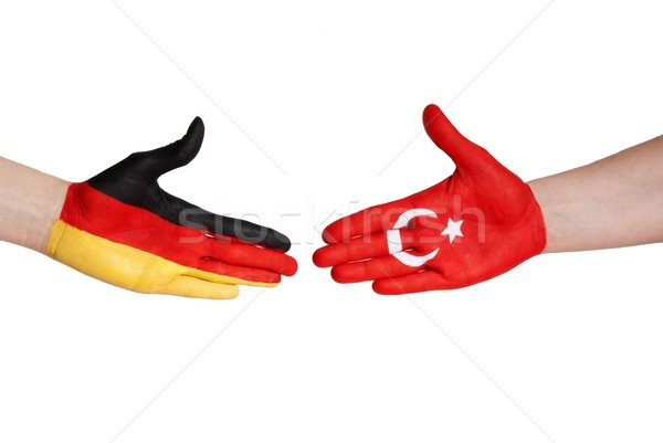 handshake between germany and turkey Stock photo © Nelosa