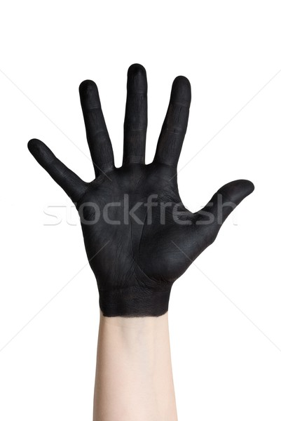 a black hand Stock photo © Nelosa