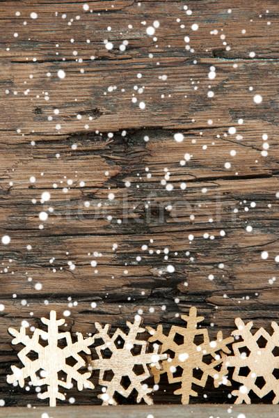 Snowflake Background with Snow Stock photo © Nelosa