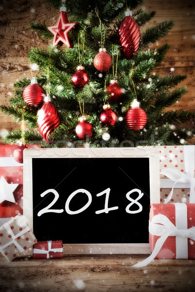 Christmas Tree With Text 2018 Stock photo © Nelosa