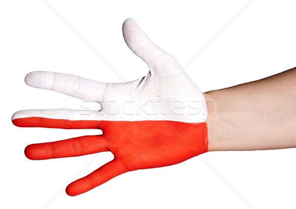 white and red hand Stock photo © Nelosa