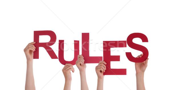 Mensen reglement veel woord geïsoleerd Stockfoto © Nelosa