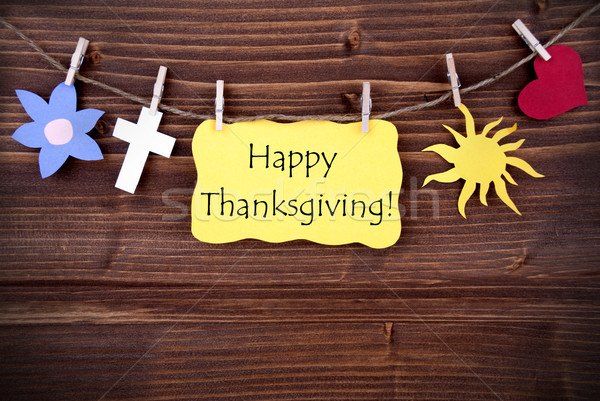 Happy Thanksgiving Greetings with Different Symbols Stock photo © Nelosa