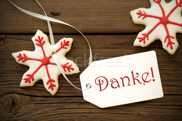 Christmas Star Cookies with Danke Stock photo © Nelosa