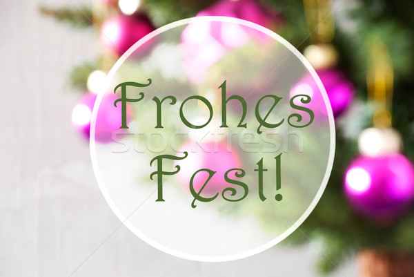 Blurry Balls, Rose Quartz, Frohes Fest Means Merry Christmas Stock photo © Nelosa