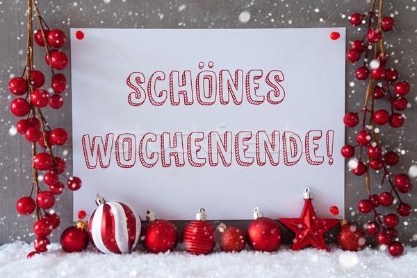 Label Рождества счастливым уик-энд Сток-фото © Nelosa