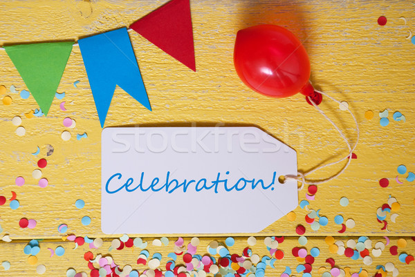 Party Label, Confetti, Balloon, Text Celebration Stock photo © Nelosa
