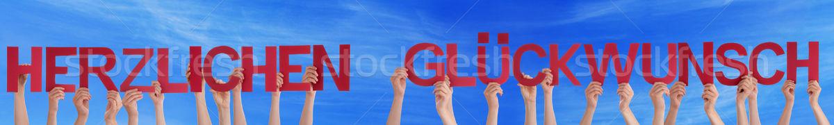 Congratulazione molti persone mani Foto d'archivio © Nelosa