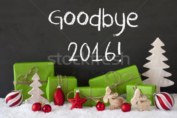 ストックフォト: クリスマス · 装飾 · セメント · 雪 · 文字 · さようなら