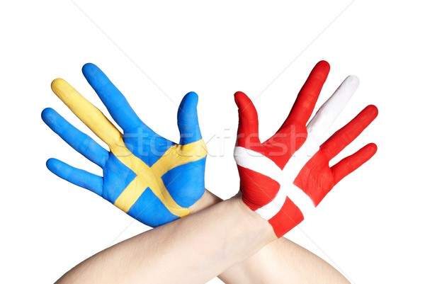danish and swedish hands Stock photo © Nelosa