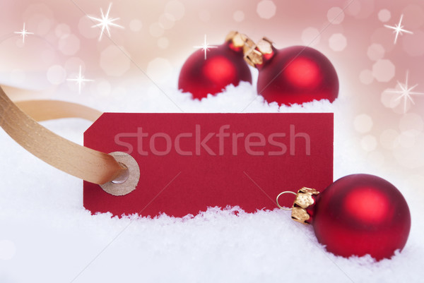 Red Label as Christmas Background Stock photo © Nelosa