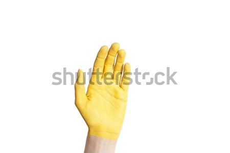 Stock photo: a yellow hand