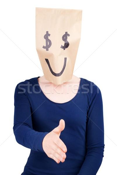 happy dollar sign handshaking Stock photo © Nelosa