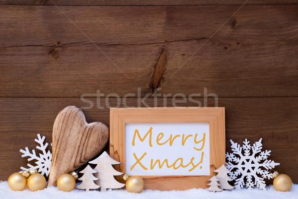 Рождества украшение снега веселый рождество Сток-фото © Nelosa