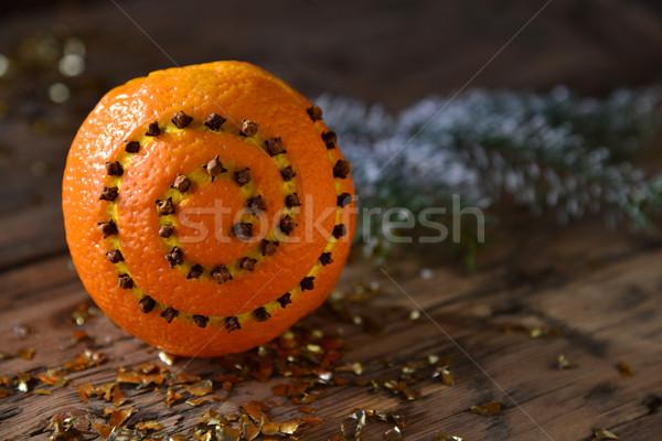 Decoração laranja ramo Foto stock © Nelosa