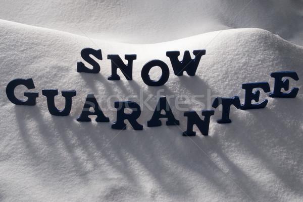 Stock photo: Blue Word Snow Guarantee