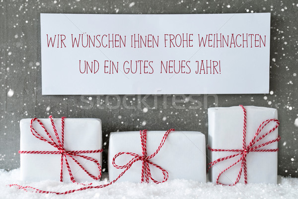 Gift,Snowflakes, Weihnachten Neues Jahr Means Christmas New Year Stock photo © Nelosa