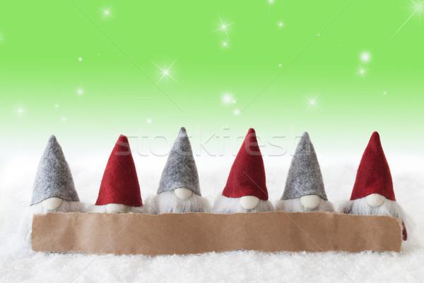 зеленый звезды копия пространства Label реклама Рождества Сток-фото © Nelosa