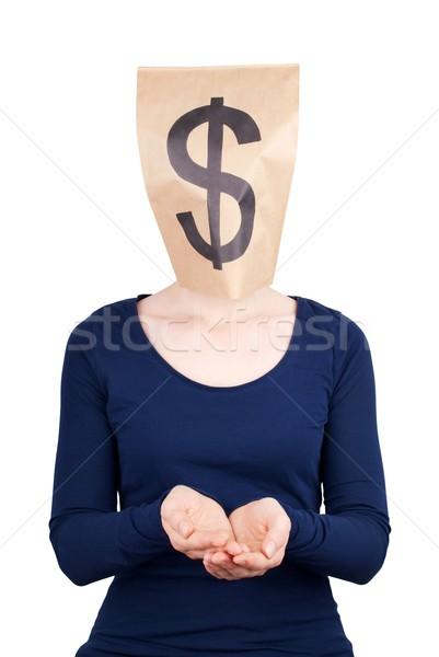 a begging dollar sign Stock photo © Nelosa