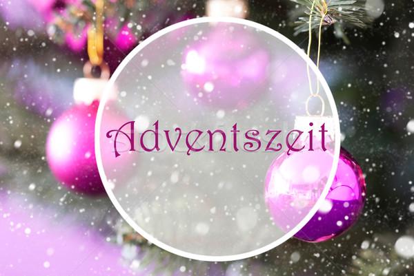 Gül kuvars Noel advent sezon Stok fotoğraf © Nelosa