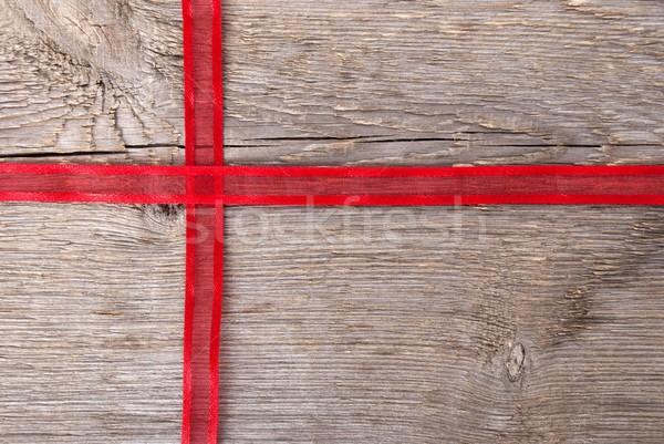 red ribbon as gift Stock photo © Nelosa