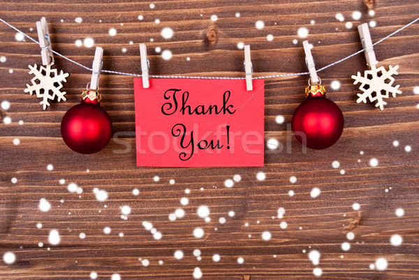 Thank You on Red Label in the Snow Stock photo © Nelosa