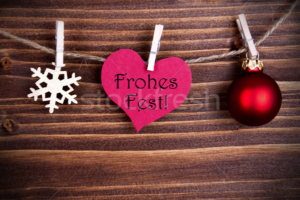 Frohes Fest in a Heart Stock photo © Nelosa