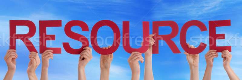 Mains rouge droite mot ressource Photo stock © Nelosa