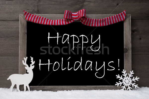 Gray Christmas Card, Snow, Loop, Happy Holidays Stock photo © Nelosa