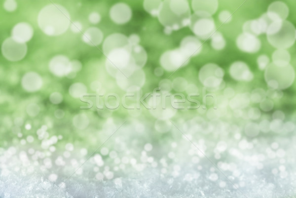 Vert Noël neige bokeh texture magie Photo stock © Nelosa