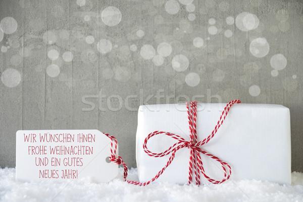 Regalo cemento año nuevo uno Navidad presente Foto stock © Nelosa