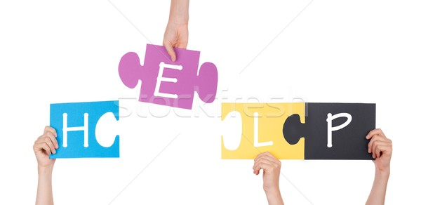 Stock photo: A Puzzle With Help