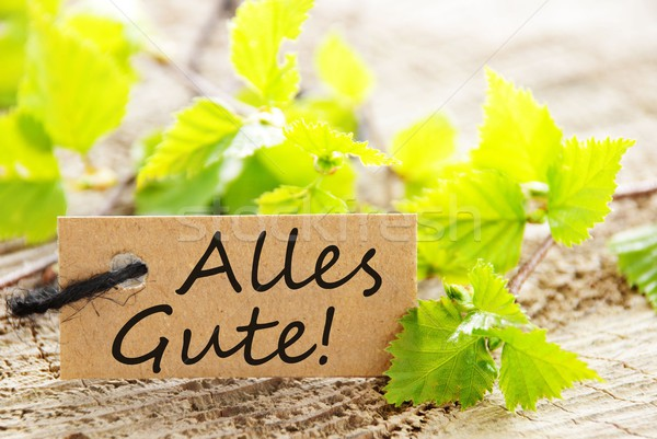 label with Alles Gute! Stock photo © Nelosa