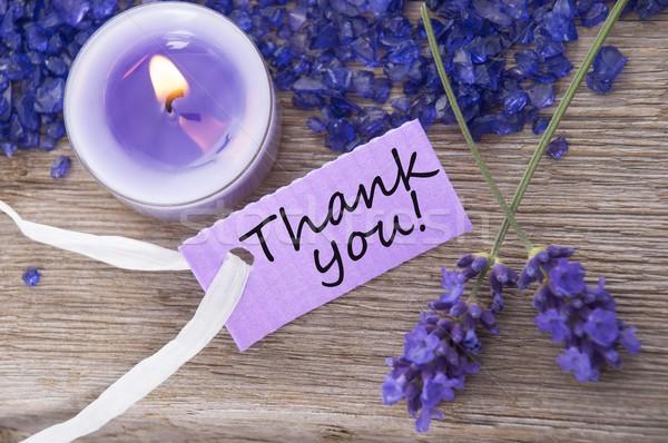 Сток-фото: спасибо · отдых · Purple · Label · древесины · домой